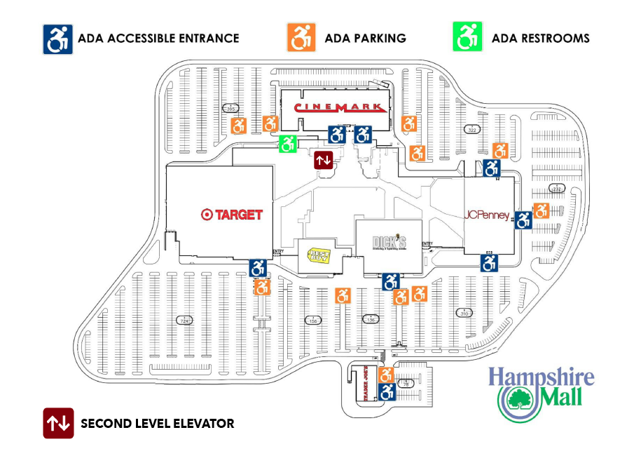 Hampshire Mall ADA Map