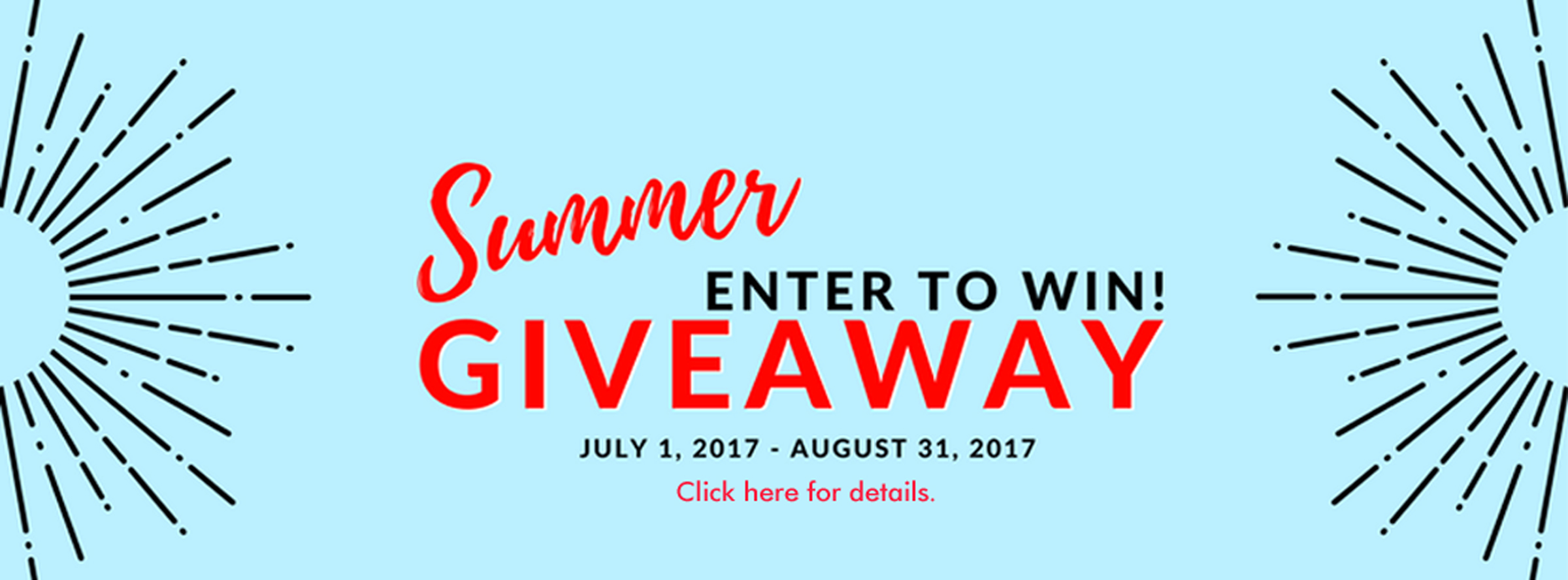Summer Giveaway Hero Image for Website
