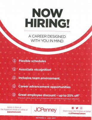 Jcpenney Hiring Event Hampshire Mall