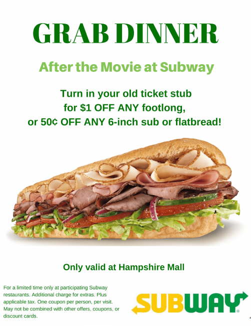 Movie Stub Discounts at Hampshire Mall! - Hampshire Mall
