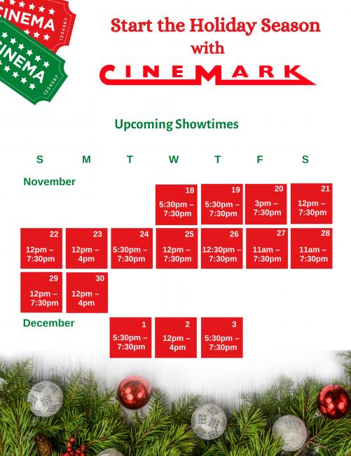 Cinemark Schedule 1